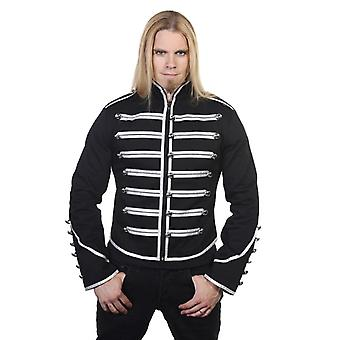 Banned Black & Silver Military Drummer Jacket XXL