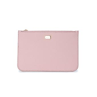 Dolce E Gabbana Pink Leather Clutch