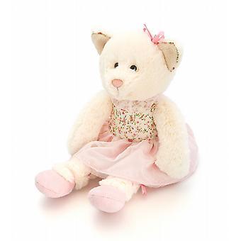 Super Soft Floral Ballet Dress 20 cm Toy Girls Gift Bag Pastel Light Ivory Bear (SF5620)