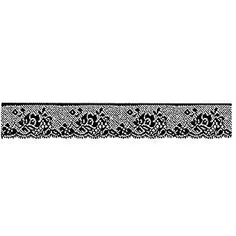 Stamperia Natural Rubber Stamp Lace with Rose (WTKCC27)