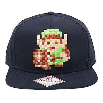 The Legend of Zelda 8-Bit Pixel Link Snapback Cap