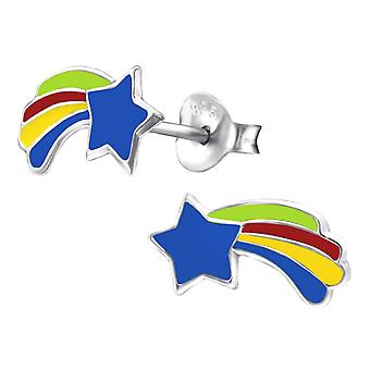 Barn sterling silver Shooting Star stud örhängen