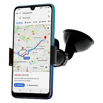 Car kit suction cup holder and dual cigarette lighter charger Double USB ports