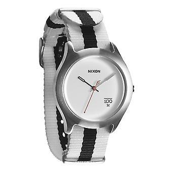 Nixon Quad vit/svart Nylon Uhr (A344177)