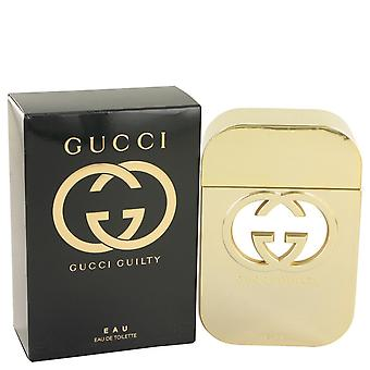Gucci skyldig Eau av Gucci Eau De Toilette Spray 2,5 oz/75 ml (kvinner)