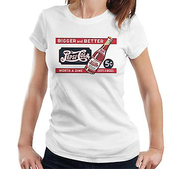 Pepsi Cola Retro Worth A Dime Costs A Nickel Women's T-Shirt