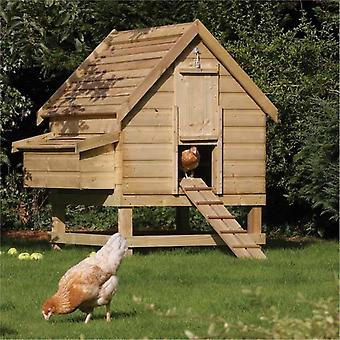 Rowlinson Large Pressure Treated Wooden Chicken Coop