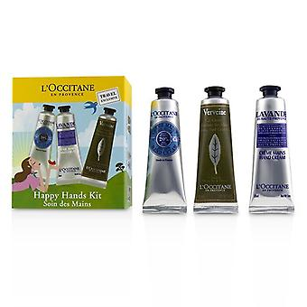L'Occitane Happy Hands Kit: 2x  Shea Butter 30ml + 2x Lavender 30ml + 2x Verbena Cooling Hand Cream Gel 30ml 6x30ml/1oz