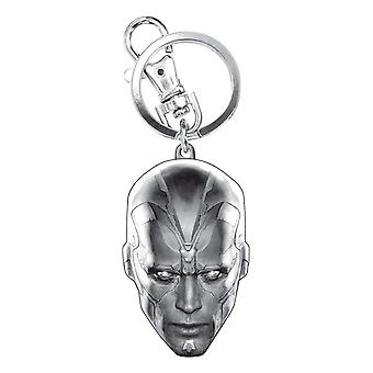 Metal Key Chain - Marvel - Avengers 2 - Vision Pewter New Licensed 68354