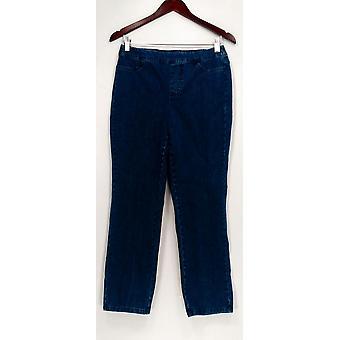 Isaac Mizrahi Live! Women's Petite Jeans 24/7 Denim Straight Blue A297722