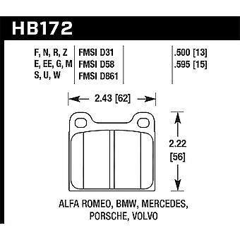 Hawk prestaties HB172F. 595 HPS