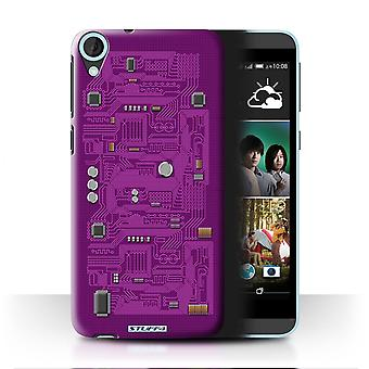 STUFF4 Case/Cover for HTC Desire 820q Dual/Purple/Circuit Board