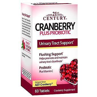 21st century cranberry plus probiotic, tablets, 60 ea