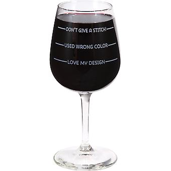 Stitch Happy Wine Glass In Box 12oz-Don't Give A Stitch ST856