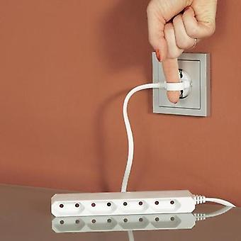 Socket strip (w/o switch) 4 x White Euro plug GAO