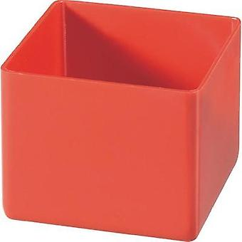 Alutec 622100 Red insert compartment for organiser boxes 54 x 45 x 54 mm