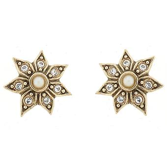 Cavendish French Crystal Daisy Flower Stud Earrings