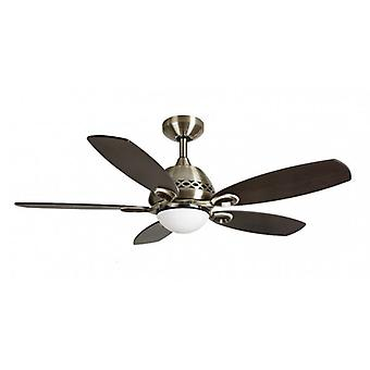 Ceiling Fan PHOENIX brass antique with light 107 cm / 42