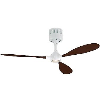 Ceiling fan Helico Paddel white / walnut with remote control