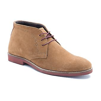 Rød Tape Dorney Tan Brown Suede Mens Casual ørken støvler