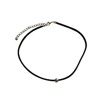 Minimalist statement choker necklace with Golden stud