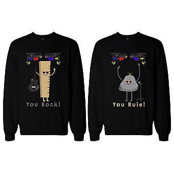 Roliga matchande BFF tröjor för bästa vänner du Rock och härska!