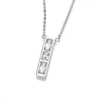 Cavendish French Silver and CZ Ingot Necklace