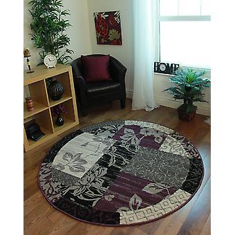 Cerchio viola grigio di Patchwork tappeto Milano