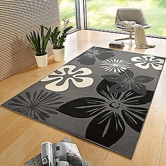 Designer velour carpet flora grey | 102400