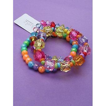 Set of 3 Assorted bright coloured stretch bead bracelets for Children