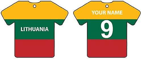 Personalised Lithuania Flag Jersey Car Air Freshener