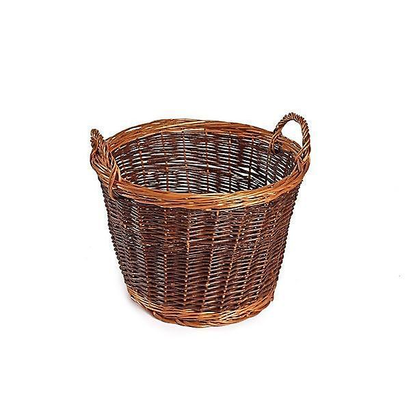 Medium Unpeeled Wicker Log Basket