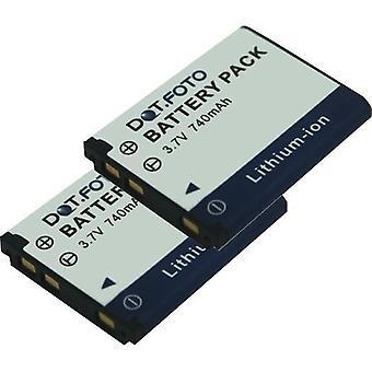2 x Dot.Foto Praktica NP45, de batterij van de vervanging van de D00573 - 3.7V / 740mAh