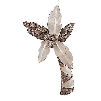 Shimmery Palm Tree Capiz Shell Christmas Holiday Ornament 8 Inch