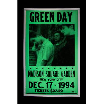 Greenday retro concert poster
