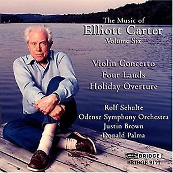 Elliott Carter - Elliott Carter: Violinkoncert; Fire Lauds: Ferie Overture [CD] USA importerer