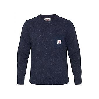 Franklin & Marshall Franklin & Marshall Mens Navy Knitted Round Neck Sweatshirt