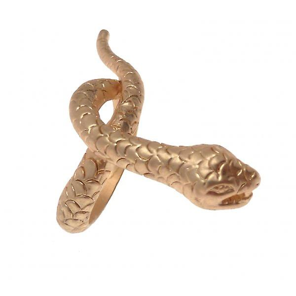 W.A.T Matt Gold Style Twisted Snake Ring