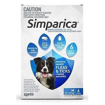 Simparica Med hund 10.1-20kg blå 6pk
