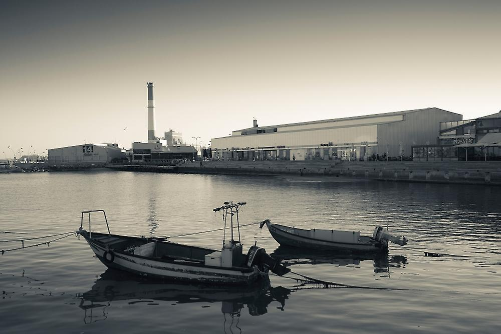 Renovated port now home to shops and cafes Namal Tel Aviv Israel Poster Print by Panoramic Images (36 x 24)