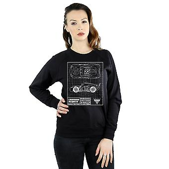 Disney Frauen Autos Lightning McQueen Blueprint Sweatshirt