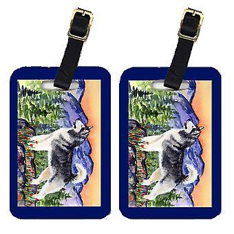 Carolines Schätze SS8157BT paar 2 Alaskan Malamute Gepäck Stichwörter