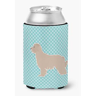 Pyrenean Shepherd Checkerboard Blue Can or Bottle Hugger