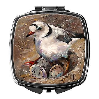 Carolines Treasures  JMK1215SCM Piping Plover Compact Mirror