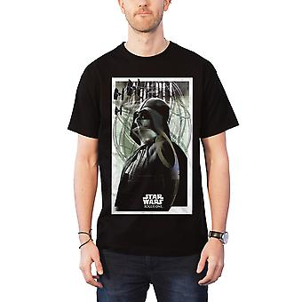 Star Wars T Shirt Darth Vader Prime Forces Rogue One new Official Mens Black