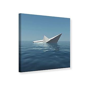 Canvas Print Paper Boat