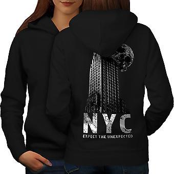 NY Cool Design mode kvinder BlackHoodie tilbage | Wellcoda