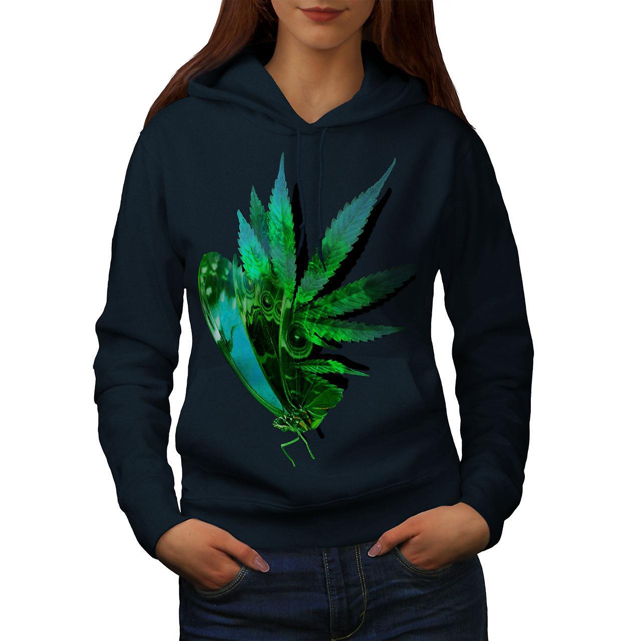 La marijuana papillon femmes NavyHoodie