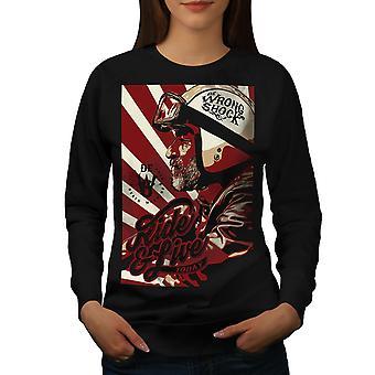 Ride And Live Today Women BlackSweatshirt | Wellcoda