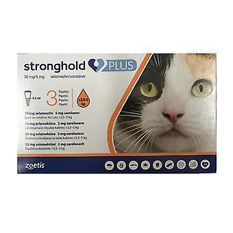 Festung Plus 30 mg/5 mg Spot-On Lösung für mittlere Katzen > 2,55 kg (5,5-11 lbs) 3 pack